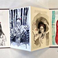 Christina Croitor. Watercolour, Pen in a Handbound Book