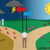 Fares Ibrahim 'Choose Your Path' Photoshop illustration