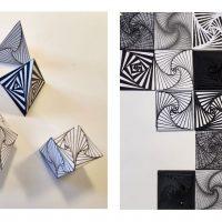 Francesca Pertoldi. Drawing, Paper folding, Print