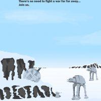 Luke Donegan 'Hoth Poster' Photoshop illustration